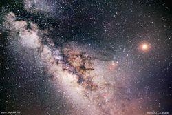 Кому удалось наиболее точно заснять Млечный путь?