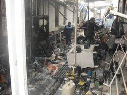 В таджикском городе сгорел центральный рынок