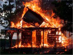 В результате пожара на територии Николаевской области погибли дети