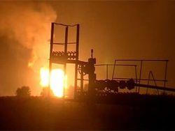 На крупном месторождении нефти произошел пожар