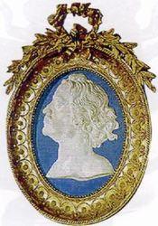фарфоровый медальон с изображением Петра I