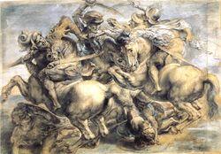 Леонардо да Винчи  «Битва при Ангьяри»