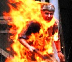 В Красноярском крае мужчина сжег себя в здании суда