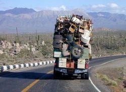 Кыргызстан запретит въезд перегруженных автомобилей