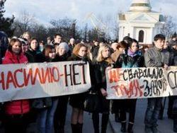 Украинцы митингуют в поддержку Оксаны Макар