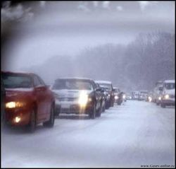 Трасса «Киев-Чоп» закрыта из-за непогоды