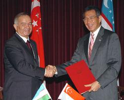 Узбекистан и Сингапур