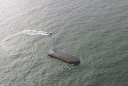 У китайского побережья терпит крушение судно. Есть пропавшие без вести
