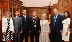 Курманбек Бакиев и его семья