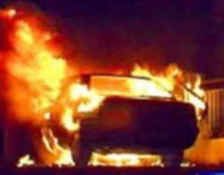 Чей автомобиль подожгли в Москве на этот раз?
