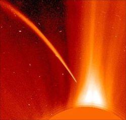 В Солнце врезалась огромная комета