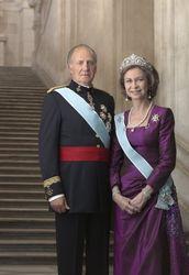 Король Испании Хуан Карлос I с супругой Королевой Софией