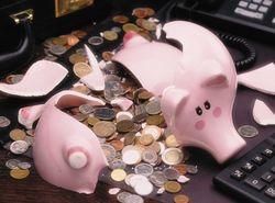Украинские банки насчитали убытков на 465 миллионов гривен