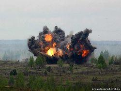 Под Петербургом производится уничтожение боеприпасов