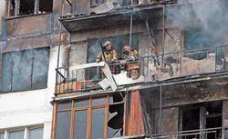 В Харькове пожар охватил жилую многоэтажку