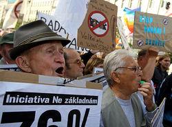 В Праге прошла демонстрация-протест против действий правительства в экономической сфере