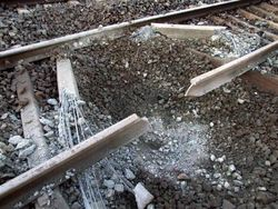 взрыв на железной дороге