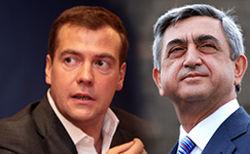 Дмитрий Медведев и Серж Саргосян