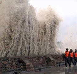 В Японии бушует тайфун Роке