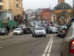 В Киеве произошла авария, в которой участвовали несколько машин