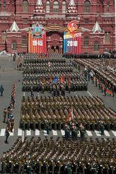 В дни проведения репетиции праздничного парада в Москве будет ограничено движение транспорта
