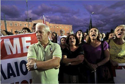 Греки устроили забастовки из-за новых мер экономии