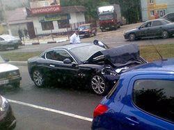 Авария с участием нескольких авто в Донецке