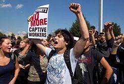 В США бастуют студенты из Украины