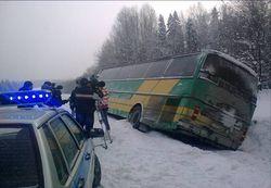 Причины аварии автобуса в Хакасии пока неизвестны