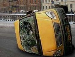 На Ставрополье перевернулось маршрутное такси