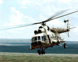 Терпевший крушение на Чукотке Ми-8 сгорел