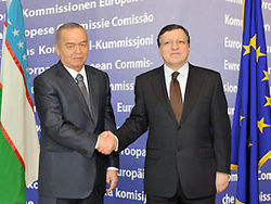 Ислам Каримов и Жозе-Мануэль Баррозу