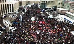В Москве на митинге поучаствовало около 102 тысяч человек