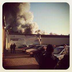 На обойной фабрике в Гомеле произошел пожар