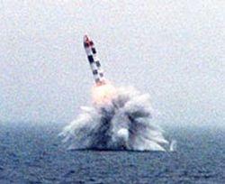 Пуск ракеты ''Булава''