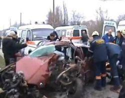 Авария в Запорожье с участием нескольких машин