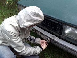 В столице России крадут автомобильные номера