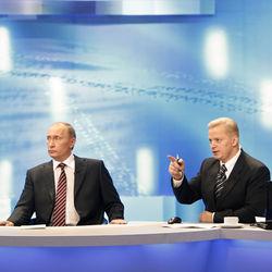 """Трансляция """"прямой линии"""" с премьер-министром РФ."""