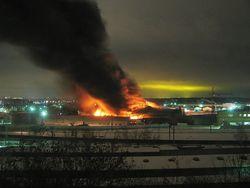 Пожар на складе игрушек в Одинцово