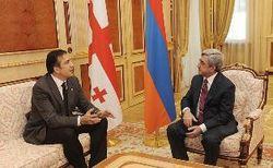 Армянский президент надеется на развитие торговли с Грузией