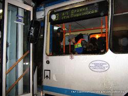 В Минске трамвай протаранил троллейбус