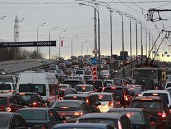 В Москве авария создала огромную пробку