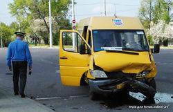 Авария в центре Минска