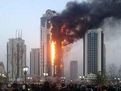 Кадыров о пожаре в Грозном: на все воля Аллаха. Чем прогневали, - соцсети