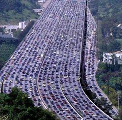 пробки на автодорогах