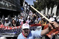 Греция бастует
