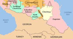 Ингушетия на карте