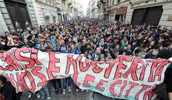 Италия охвачена демонстрациями