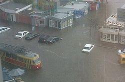 В Одессе на полметра затопило улицы