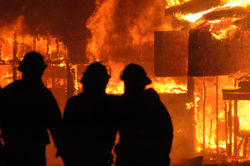 Крупный пожар в центре Мексики